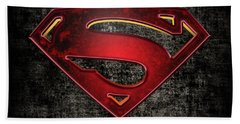 Superman Logo Digital Artwork Beach Sheet