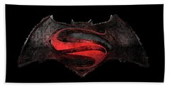 Beach Towel featuring the photograph Superman Vs Batman by Louis Ferreira