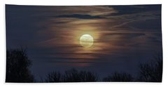 Supermoon Beach Towel