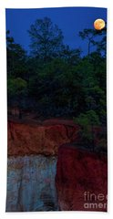 Supermoon Over Providence Canyon Beach Sheet by Barbara Bowen