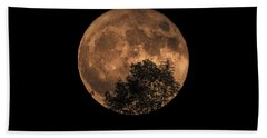 Supermoon Rising Beach Towel