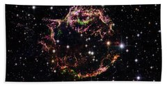 Beach Towel featuring the photograph Supernova Remnant Cassiopeia A by Marco Oliveira