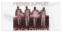 Support Friends In Bronze Beach Towel