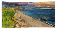 Beach Towel featuring the painting Surf Drive Falmouth by Michael Helfen