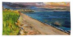 Surf Drive Falmouth Beach Sheet by Michael Helfen