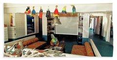 Surf House Interior Beach Sheet by Beth Saffer