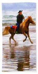 Beach Towel featuring the photograph Surf Rider by Wendy McKennon