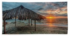 Surf Shack At Sunset - Wide Format Beach Towel