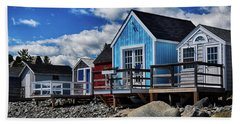 Surf Shacks Beach Sheet by Tricia Marchlik