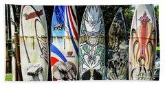 Surfboard Hana Maui Hawaii Beach Sheet by Peter Dang