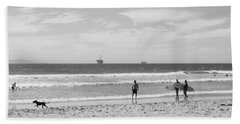 Strollin On Dog Beach Beach Towel