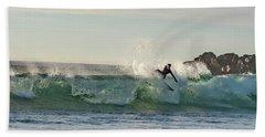 Surfer Carlsbad Jetty Beach Towel