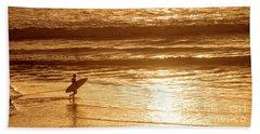 Surfer Beach Sheet by Delphimages Photo Creations