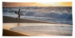 Surfer On Beach Beach Sheet