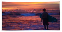 Surfer Sunset Costa Rica Beach Towel