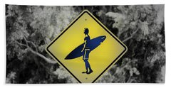 Surfer Xing Beach Towel