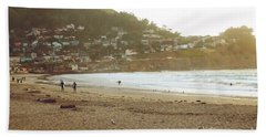 Surfers Just Before Sunset Beach Towel