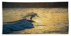 Surfing In Rio Beach Towel by Lana Enderle