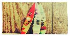 Surfing Still Life Artwork Beach Towel