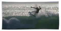 Surfing The Light Beach Towel