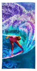 Surfs Like A Girl 2 Beach Towel by ABeautifulSky Photography