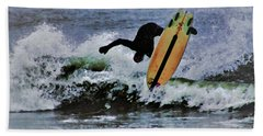 Beach Towel featuring the photograph Surfs Up by B Wayne Mullins