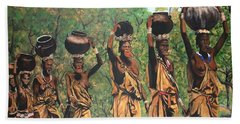 Blue Cat Productions        Surma Women Of Africa Beach Towel