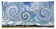 Surreal Cloud Blue Beach Sheet