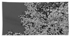 Surreal Deconstruction Of Fall Foliage In Noir Beach Towel