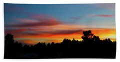 Beach Towel featuring the photograph Surreal Sunset by Jason Coward