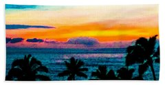 Surreal Sunset Beach Towel