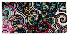 Surreal Swirl  Beach Sheet