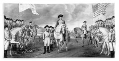 Surrender Of Lord Cornwallis At Yorktown Beach Sheet by War Is Hell Store