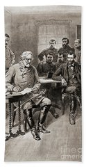 Surrender Of Robert E Lee To General Ulysses S Grant, Appomattox Court House,virginia Beach Towel