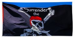Surrenderthe Booty Flag Beach Towel