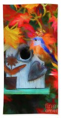 Surrounded In Fall Color Beach Towel