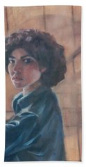 Susan Berger - Suzn Smith - Self Portrait Beach Sheet