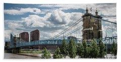 Suspension Bridge Color Beach Towel by Scott Meyer