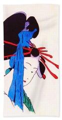 Beach Towel featuring the painting Sutekina Geisha Ni by Roberto Prusso
