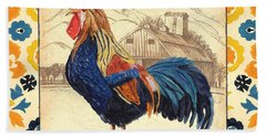 Suzani Rooster 1 Beach Towel