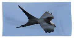Swallow-tailed Kite #1 Beach Sheet by Paul Rebmann