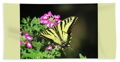 Swallowtail In The Garden 1 - Visions Of Spring Beach Sheet by Brooks Garten Hauschild
