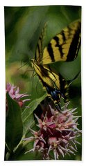 Swallowtail Liftoff Dp Beach Towel by Ernie Echols