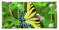 Swallowtail On Thistle Beach Towel