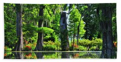Swamp In Bloom Signed Beach Towel