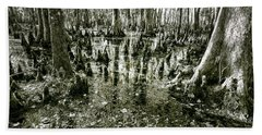 Swamp In Contrast Beach Towel