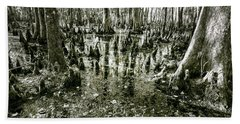 Swamp In Contrast Beach Towel by Andy Crawford