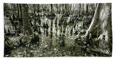 Swamp In Contrast Beach Towel