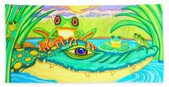 Swamp Life Beach Sheet