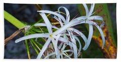 Swamp Lilies Beach Towel by Kenneth Albin